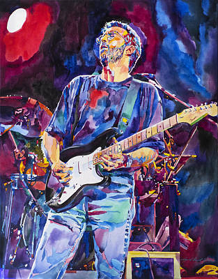 Fender Strat Painting - Eric Clapton And Blackie by David Lloyd Glover