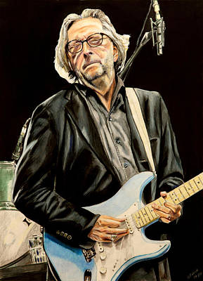 Eric Clapton Drawing - Eric Clapton by Chris Benice