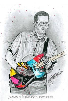 Stevie Ray Vaughan Drawing - Eric Clapton by Dusan Djordjevic