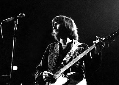 Eric Clapton Photograph - Eric Clapton In Concert, Bw, By Gene Martin Circa 1969 by Gene Martin Collection
