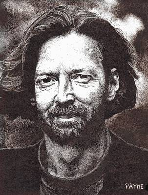 Slowhand Drawing - Eric Clapton by Rob Payne