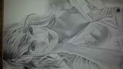 Taylor Swift Drawing - Eric Smith's Taylor Swift Rendering by Joseph Shaffner