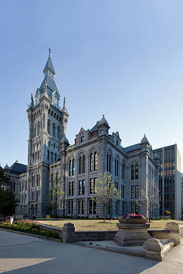 Warner Photograph - Erie County Hall by Peter Chilelli