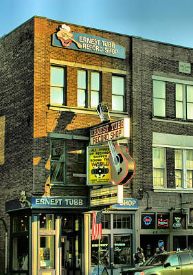 Downtown Nashville Photograph - Ernest Tubbs Record Store by Steven Ainsworth