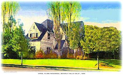 Beverly Hills Mixed Media - Errol Flynn's Beverly Hills Residence, 1935 by Dwight Goss