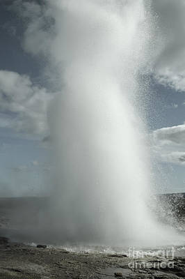 Iceland Photograph - Eruption Of Strokkur Geyser In Iceland by Dani Prints and Images