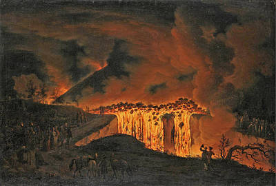 Painting - Eruption Of Vesuvius by Pietro Fabris