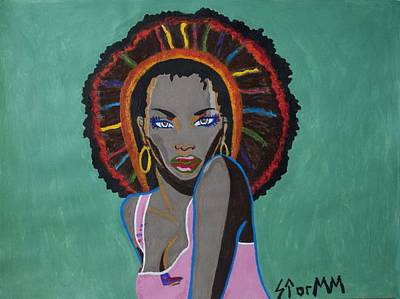 Yoruba Painting - Erzulie Freda by Stormm Bradshaw