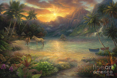 Escape To Tranquility Print by Chuck Pinson