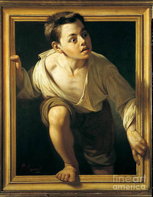 Escaping Criticism Print by Pere Borrell