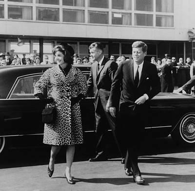 Escorted By President Kennedy Print by Everett