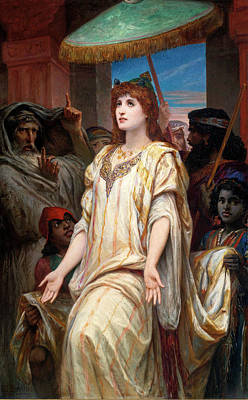 Ahasuerus Painting - Esther Before Ahasuerus by Felix Joseph Barrias