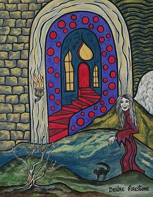 Haunted House Painting - Eternal Peace And Happiness by Deidre Firestone