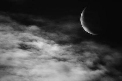 Luna Photograph - Ethereal Crescent Moon by Bill Wakeley