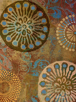 Etheric Circles Ethnic Art Pattern Print by Mindy Sommers
