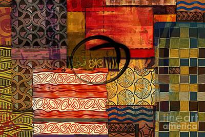 Creativity Mixed Media - Ethnic Abstract by Bedros Awak