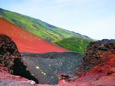 Landscape Photograph - Etna Volcano by Nat Air Craft