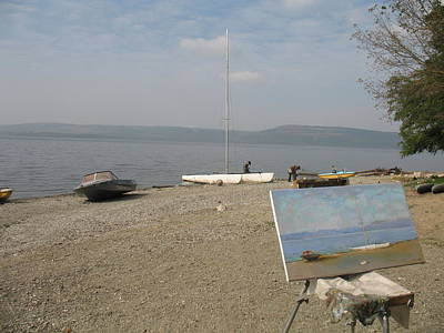 Racei Photograph - Etude And Nature. Blue Morning On Dniester Bay. 2008 by Yuri Yudaev