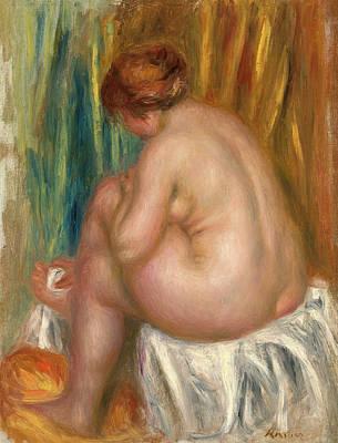 Pierre-auguste Renoir Painting - Etude De Nu. Apres Le Bain by Pierre-Auguste Renoir