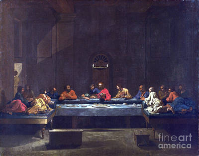 Nicolas Poussin Painting - Eucharist - The Last Supper by Celestial Images