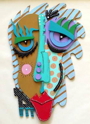 Skull Cards Mixed Media - Eugene by Keri Joy Colestock