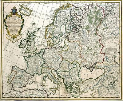 Europe On The Verge Of Revolution Original by Jean Claude Dezauche