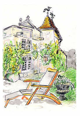 Painting - European Chateau Lounge Chair by Tilly Strauss