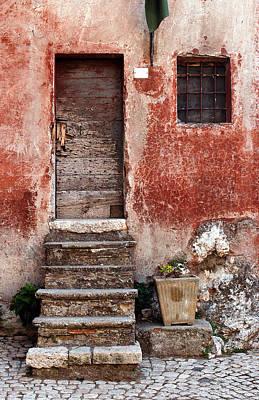 Stone Planter Photograph - European Door I  by Jason Evans