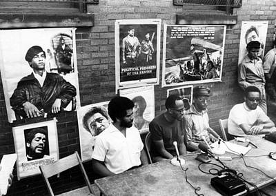 Press Conference Photograph - Ev1817 - Black Panther Party Press by Everett