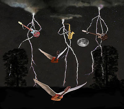 Flying Guitars Digital Art - Even Better Than The Real Thing by Eric Kempson