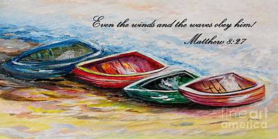 Even The Winds And Waves Print by Eloise Schneider