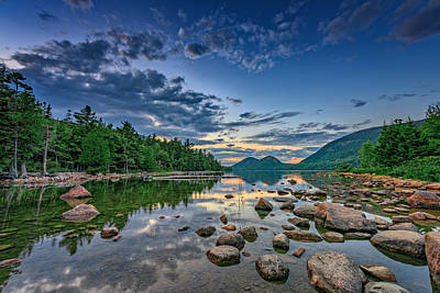 Desert Island Photograph - Evening At Jordan Pond by Rick Berk