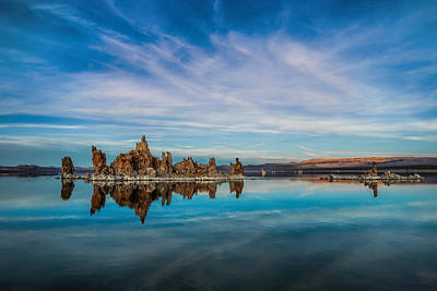 Sunset Photograph - Evening At Mono Lake by Andrew Soundarajan