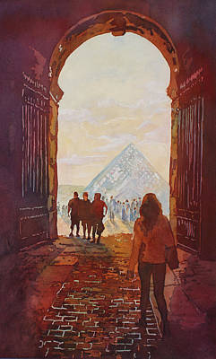 Louvre Painting - Evening At The Louvre by Jenny Armitage