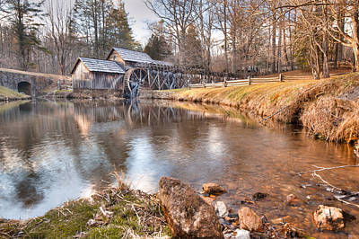 Mills Photograph - Evening At The Mabry Mill by Gregory Ballos