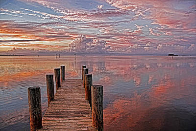 Seascape Photograph - Evening Bliss by HH Photography of Florida