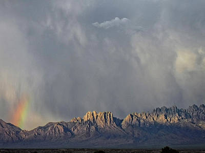 Las Cruces Digital Art - Evening Drama Over The Organs by Kurt Van Wagner