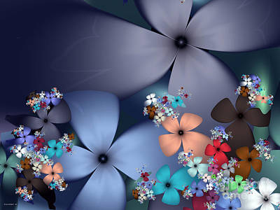 Abstract Photograph - Evening Flowers by Ganesh Barad