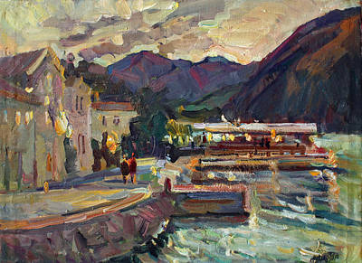 Montenegro Painting - Evening In Prcanj by Juliya Zhukova