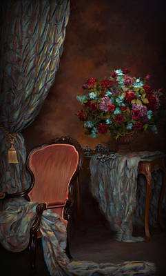 Evening In The  Parlor Print by Daria Doyle