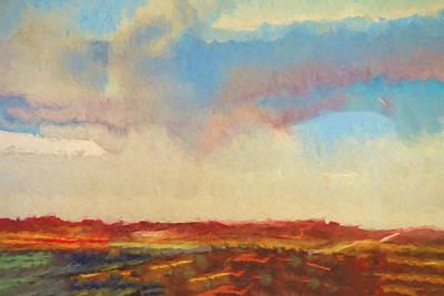 Evening Landscape Print by Impressionist Art