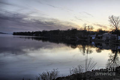 Evening Light On Lake Champlain Print by Deborah Benoit