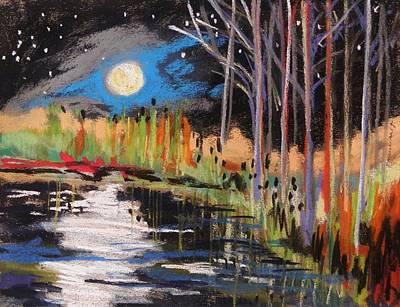 Evening Near The Pond Print by John Williams