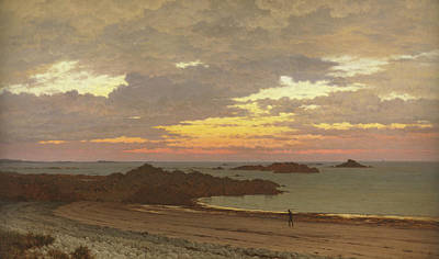 A Summer Evening Painting - Evening On The Coast by Frederick William Meyer