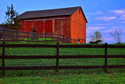 Mennonite Photograph - Evening On The Farm by Frozen in Time Fine Art Photography