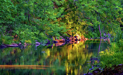 Evening On The Humber River - Paint Print by Steve Harrington