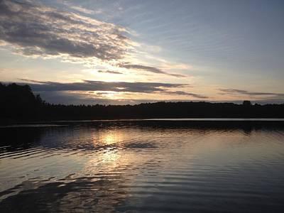 Evening On The Lake Print by Lori Thompson