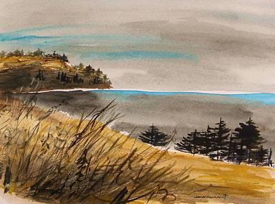 Seacoast Drawing - Evening On The Seacoast by John  Williams