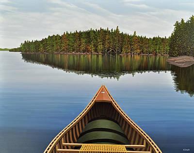Evening Paddle II Original by Kenneth M  Kirsch