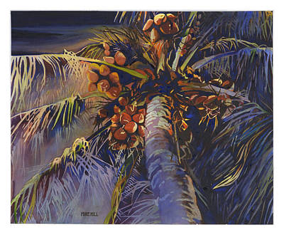 Mike Hill Painting - Evening Palm by Mike Hill